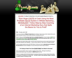 New* Loot4leads – Your Cpa Marketing Package On Steriods!